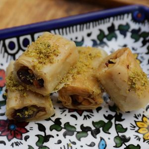 Aleppo Sweets Baklava Lady Fingers Whole Pistachio
