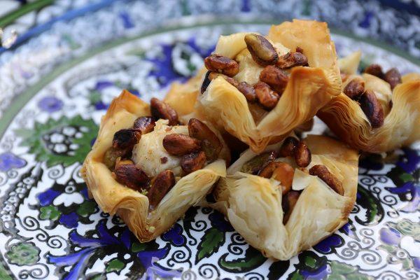 Aleppo Sweets Baklava Purse Whole Pistachio